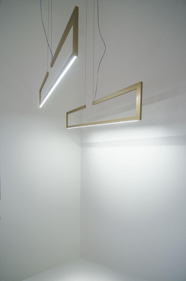 Frame lamps at Inarchi stand, Euroluce 2017 #luxury #lighting #design #LED #LEDlamps #minimalist #interior #homedecor #Euroluce #Euroluce2017 #exhibition #Inarchi