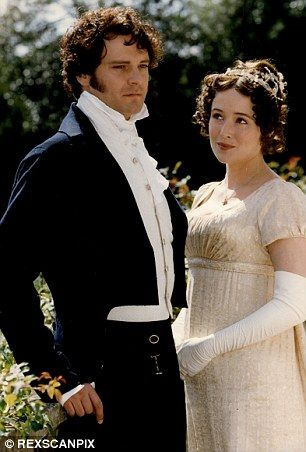 Iconic roles: Colin as Mr Darcy alongside Jennifer Ehle's Elizabeth Bennet in the acclaimed BBC adaptation of Pride and Prejudice and as Mark Darcy in Bridget Jones Diary