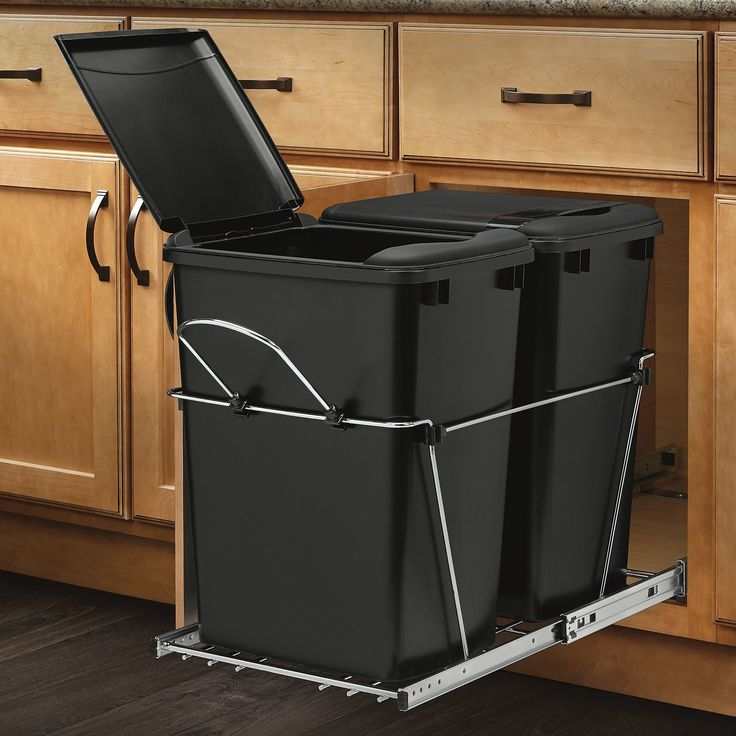 Rev-A-Shelf Double 8.75 Gallon Roll Out Waste Container & Reviews | Wayfair