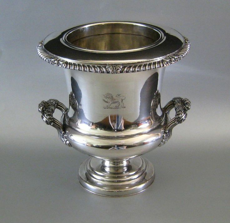Old Sheffield Plate Wine Cooler C 1820 Antique Silver