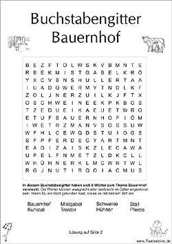 Buchstabengitter für Kinder