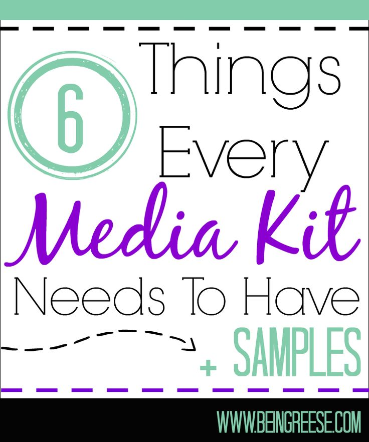 6 Things Every Blog Media Kit Should Have   Samples