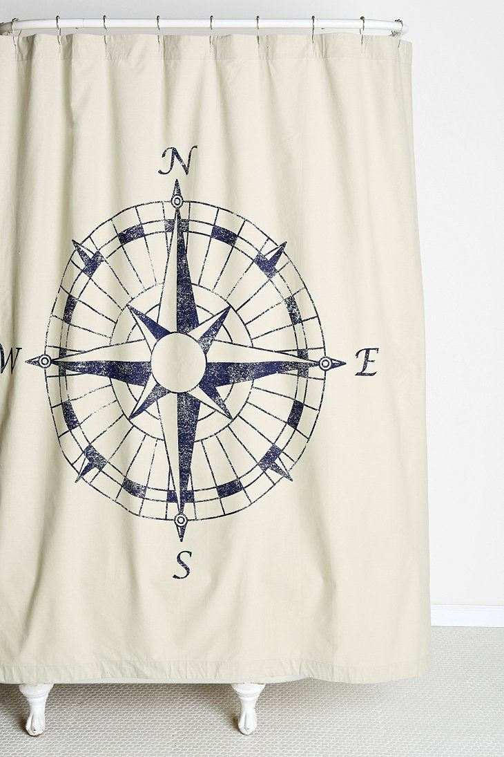 Nautical bathroom curtains - 4040 Locust Navigation Shower Curtain Urban Outfitters Nautical Shower Curtainsbathroom