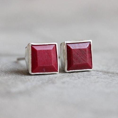 Ruby stud earrings Ruby earrings