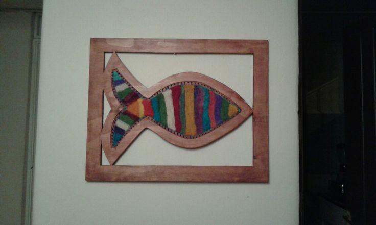 pez de colores en vellon