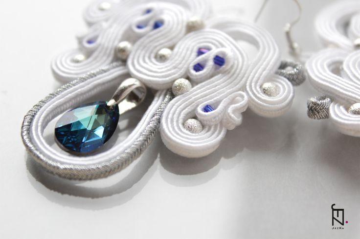 Kolczyki soutache - Blue.  Dostępne w Madame Allure!