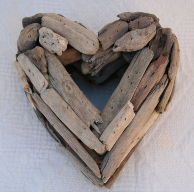 Décoration Coeur en bois flotté