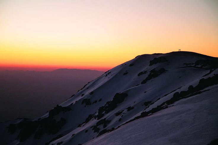 """Sunset on Provincia mountain, Chile. """"Andes crossing """" 3 days program with Ecochile travel"""