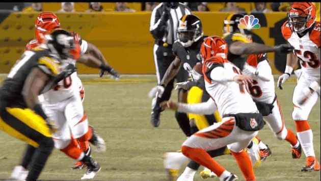 Bengals Punter Gets Destroyed on Antonio Brown's 67-Yard Punt Return for TD [GIF]