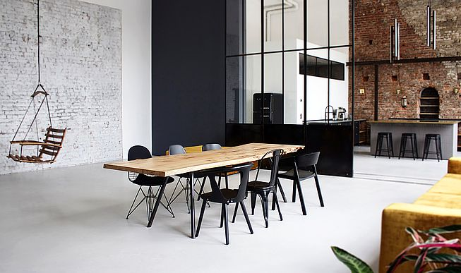 8 best holz images on Pinterest Apartment design, Diner table and