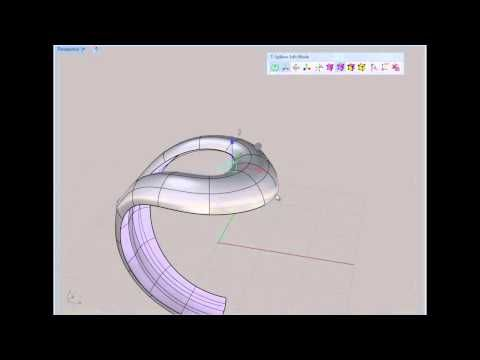 Making a hollowed out ring in Tsplines / Rhino CAD - YouTube