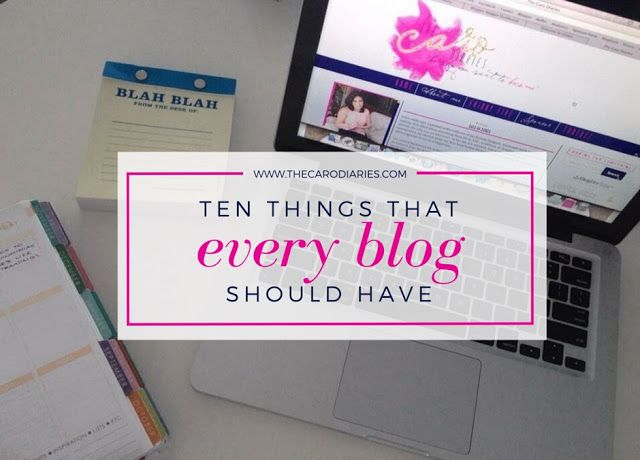 must-haves for every blog!