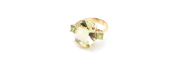 #Peridot #Gold 18K #Rings  Rings | Cesareo Jewellers