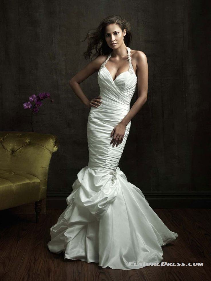 drape mermaid wedding dresses: Wedding Dressses, Mermaid Style, Taffeta Wedding Dresses, Mermaid Wedding Dresses, Bridesmaid Dresses, Church Wedding, Allure Bridal, Chapel Training, Wedding Dresses Style