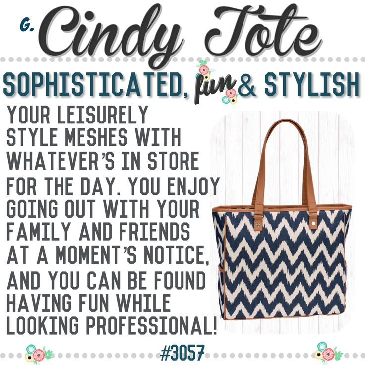 "What's your Thirty-One  purse-onality? Spring/Summer 2017 online party game  ""Cindy Tote"""
