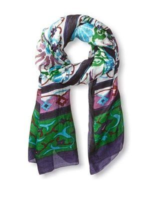 51% OFF Vismaya Women's Oversized Scarf/Sarong, Green/Blue/Purple