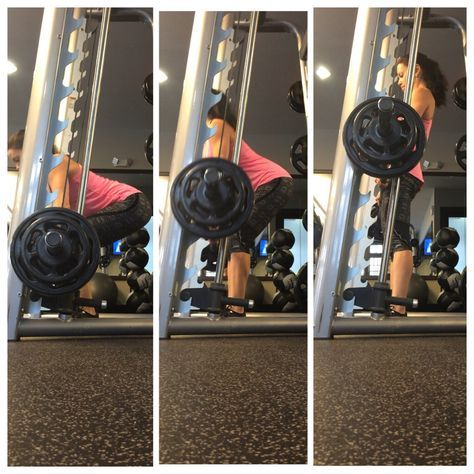 Using the Smith Machine for Deadlifts - Stiff Leg Dead Lifts for Women. How to use the Smith Machine to help with dead lift form during your workouts.