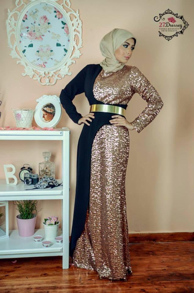 evening hijab dress 9