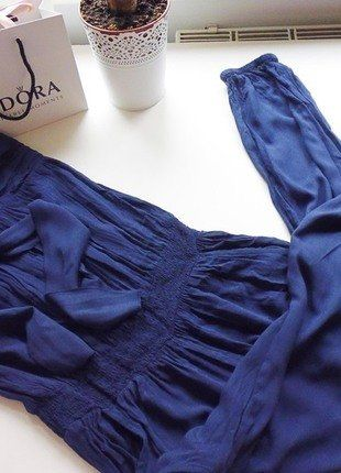 Kup mój przedmiot na #vintedpl http://www.vinted.pl/damska-odziez/kombinezony/16010042-kombinezon-dlugi-off-shoulder-s-letni-cienki-kieszenie