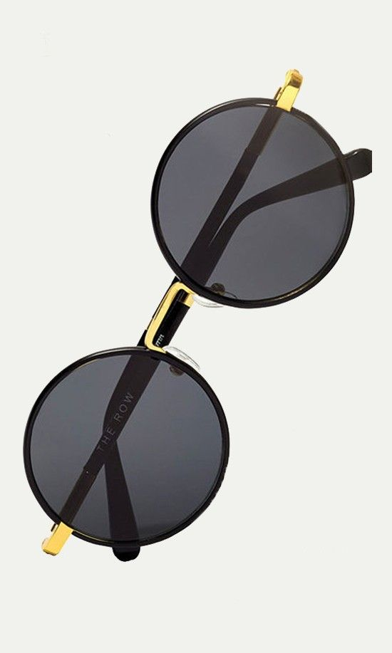 Bold oversized frames, hints of metallic shine and soft leather tipsthese minimalist rounds stun with post-sixties edge.