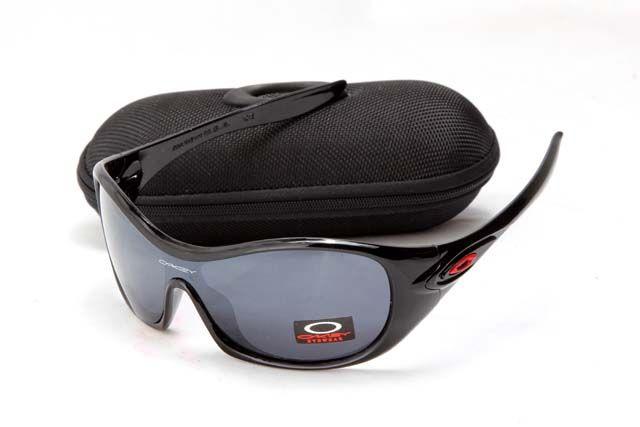 Cheap Sale Oakley Women Sunglass Black Red Frame Black Lens Cheap Sale