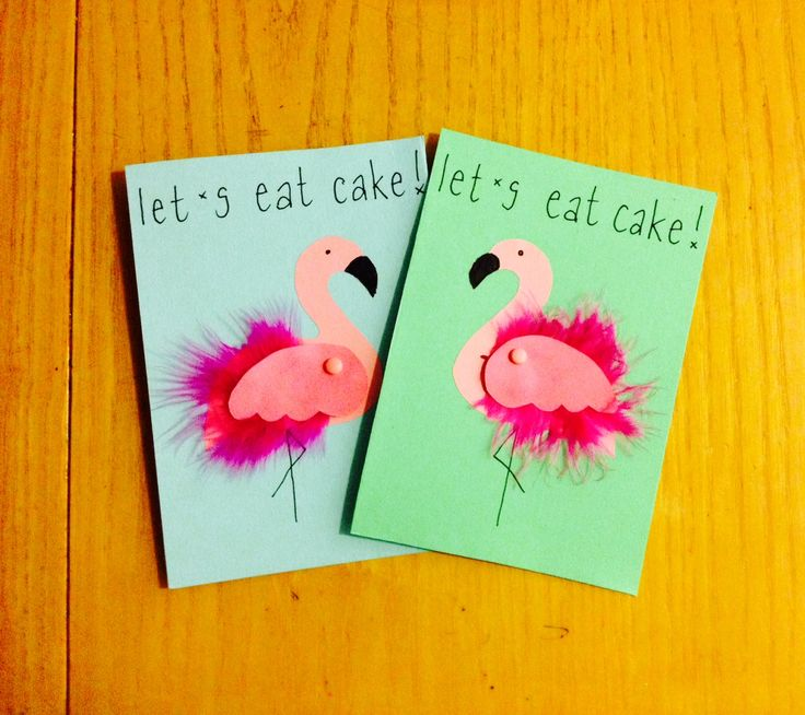 Let's Eat Cake - Flamingo Party Invitations