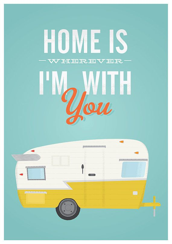 Inspirational quote print home poster trailer print retro by handz