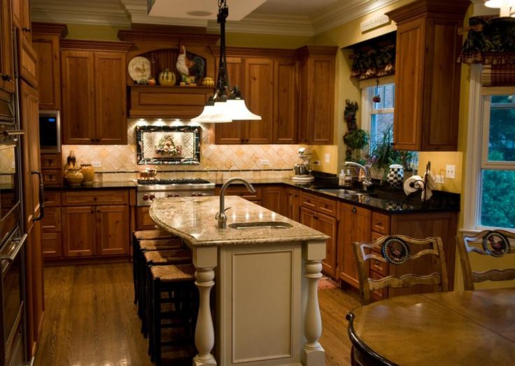 Serendipity Refined My kitchen Cherry CabinetsAbsolute Black