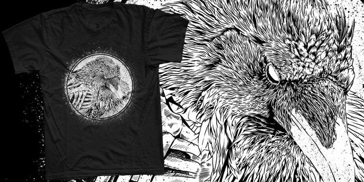 """Raven"" t-shirt design by chimankorus"