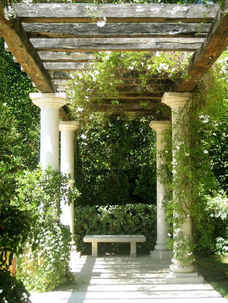Nice Traditional Romantic Garden Patio Pillars