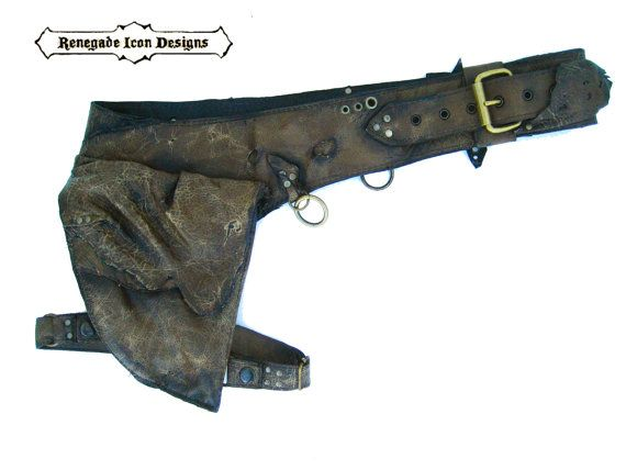 leather holster bag burningman mad max desert punk by Renegadeicon