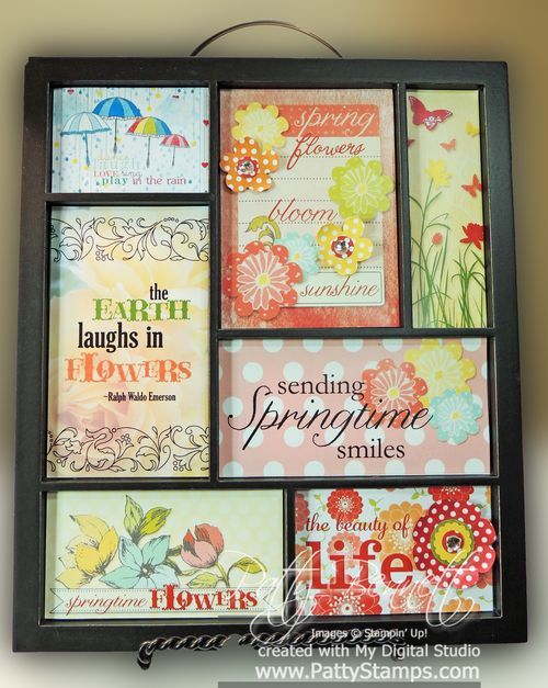 Spring Printer Tray inserts with MDS using My Digital Studio from Stampin Up