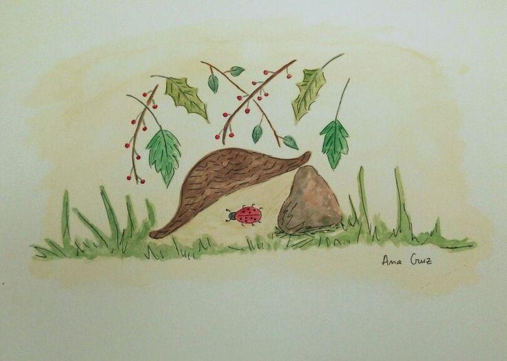 Naturaleza #dibujo #acuarela