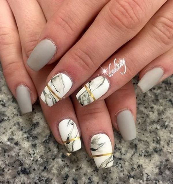 Marble nail appearance is increasingly popular choice of ladies all over the world.
