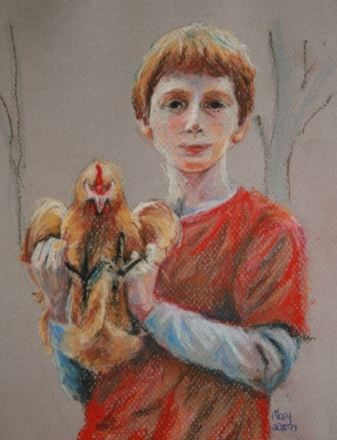 Study in Red (No.7, 2015)  Pastel on Paper, A4 By Moey