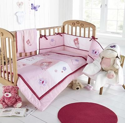 Girls enchanted pink white #fairy love #hearts embroidered cot bed #bumper,  View more on the LINK: 	http://www.zeppy.io/product/gb/2/281376421377/
