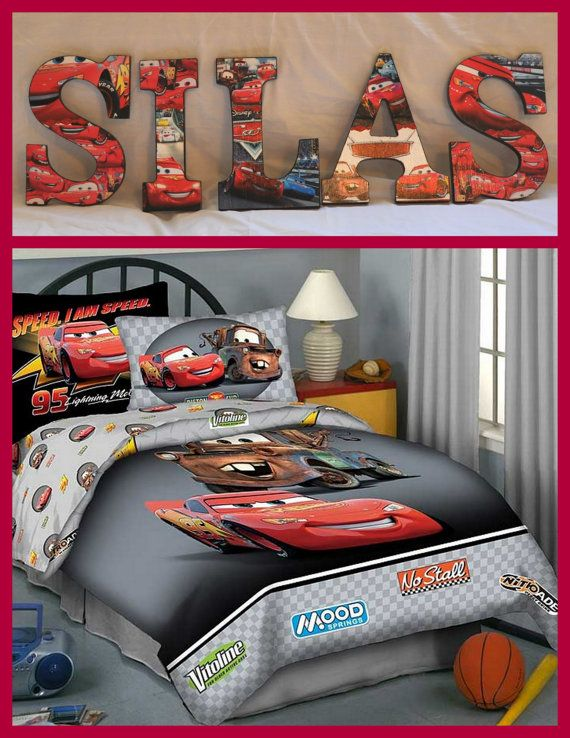 Disney Cars Inspired Personalized/Customized  Wooden Letters for Children