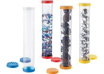 Sensory Tubes - Set of 4  These tubes can be filled with everyday objects or liquids and compare their sound, smell, colour, shape... The possibilities are endless!