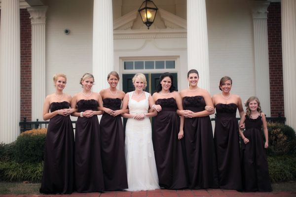 This warm hue is a popular choice for autumn weddings.Photo Credit: Amber Davis Photography