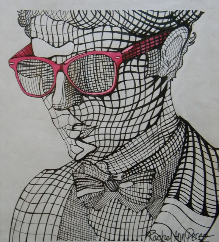 Cross Contour Drawing | Darren Criss: Cross Contour by ~paranoid-melodies on deviantART
