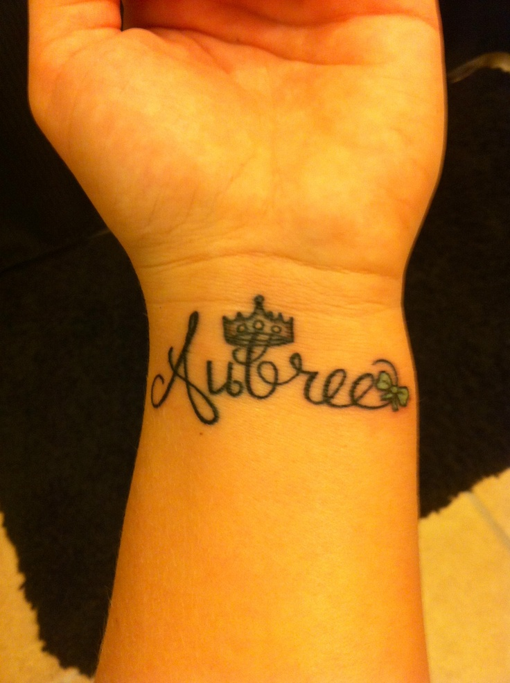 Name With Crown Tattoo Designs Best 25+ Princess crow...