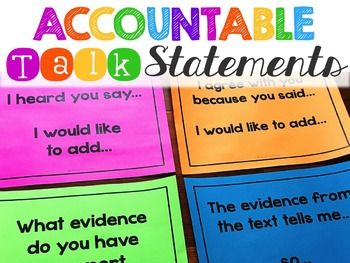 Accountable Talk Posters - Increase the rigor in your classroom with Accountable Talk Statements from Education to the Core! Let the students do the work as you differentiate the appropriate posters for them to choose from throughout the year.  All 23 posters available in color (glitter and chalkboard background) and black and white!