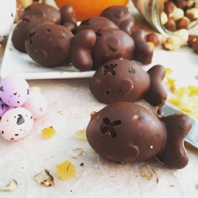 'Nutty' Handmade raw chocolate.  These are dairy free, cheap and easy to make.