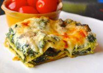 No-Boil Spinach Alfredo Lasagna