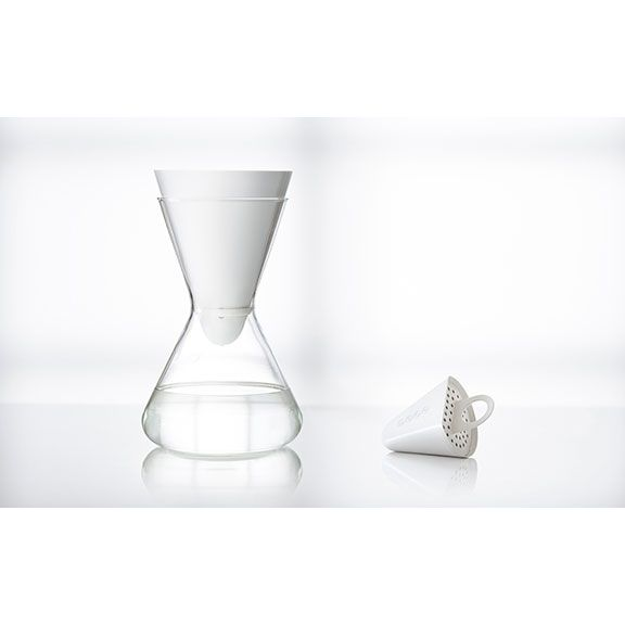 A beautiful water filter carafe you can take it to the dining table! The Soma glass carafe is custom made in Germany. Constructed of shatter resistant borosilicate lab glass, the Soma carafe is light weight, durable, and crystal clear. It holds 48 ounces, or six 8-ounce glasses of water. $50