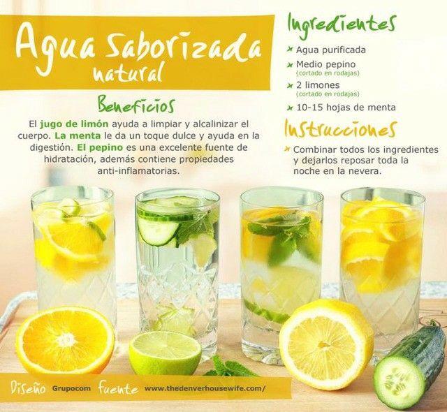 Agua saborizada  natural