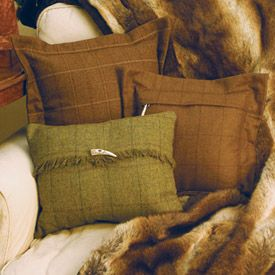 Good old country tweed cushions #tweed #cushion #green