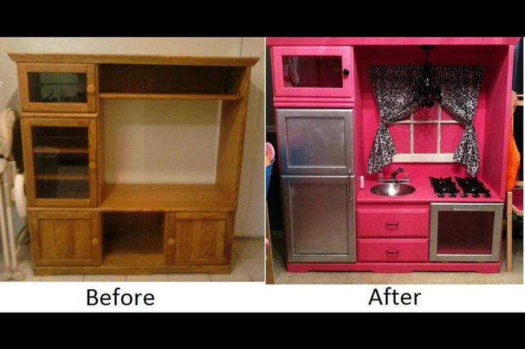 learn how to make a play kitchen from a tv stand summer