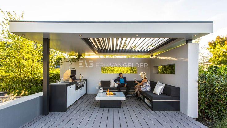 Wellness garden barendrecht heerlijke overdekte zitplek in de tuin buitenkeuken op maat met - Overdekte patio pergola ...