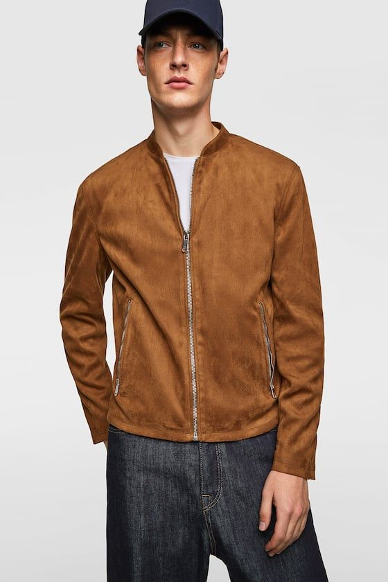 503229d942d7 FAUX SUEDE BOMBER - Item available in more colors